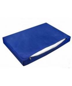 Лежанка прямоугольная с чехлом на молнии №2, 75*50*10см тёмно-синяя
