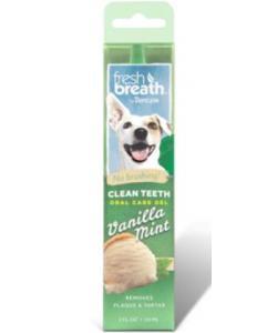 Гель для чистки зубов с ванилью и мятой для собак