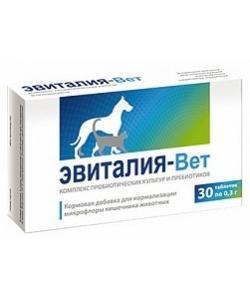 """Комплекс пробиотических культур и пребиотиков """"Эвиталия-Вет"""", 30 таб."""
