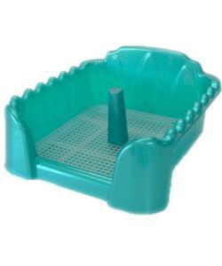 Туалет для собак cо столбиком, бирюзовый перламутр, 60*40см