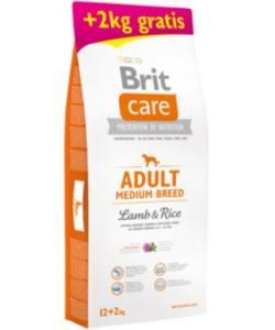 Акция 12+2 кг в подарок сухой корм Care Adult Medium Breed Lamb&Rice для взрослых собак средних пород с ягненком и рисом