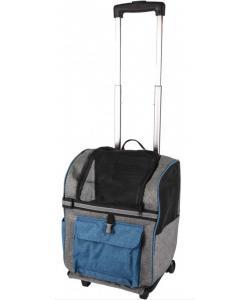 Сумка-рюкзак для животных на колесах KIARA 32*29*45см, синяя