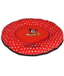 Лежанка Minnie-2  50x50x7см  круглая красная/горох (WD3010)