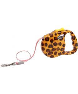 """Рулетка """"Леопард"""" лента, 3м., размер - M, желтая"""