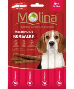 Жевательные колбаски для собак (порц 4х5г) Говядина