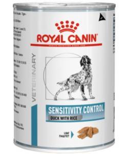 Консервы для собак при пищевой аллергии с острой непереносимостью, с уткой и рисом, Sensitivity Control Duck with Rice