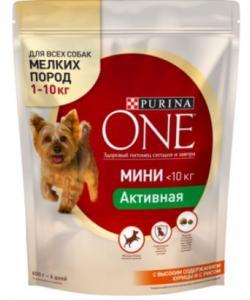 Для активных собак малых пород с курицей и рисом