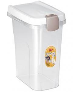 Контейнер для корма прозрачный с белой крышкой 15 л, 33*22*41 см