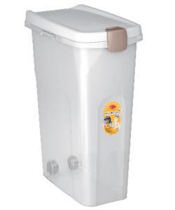Контейнер для корма прозрачный с белой крышкой 40 л, 45*27*61 см
