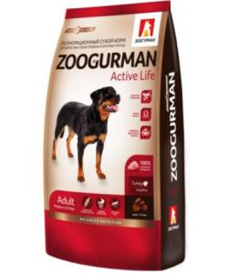 Сухой корм для активных собак  средних и крупных  пород,, индейка