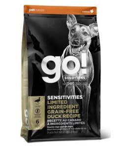 Корм GO! беззерновой для щенков и собак с цельной уткой для чувствительного пищеварения, Sensitivity + Shine Duck Dog Recipe, Grain Free, Potato Free