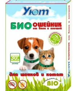 Bio Ошейник  Уют от блох и клещей для котят/щенков 30см