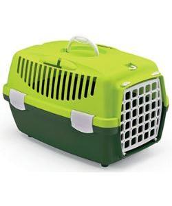 Переноска Gulliver 1 Trendy Colour салатово-зеленая (до 6кг) с пластиковой дверкой, 48*32*31см
