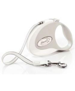Рулетка-ремень для собак до 12кг, 3м, белая (Style S Tape 3m white)