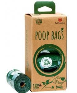Биоразлагаемые пакеты для уборки за питомцем, 8 рулонов по 15 штук