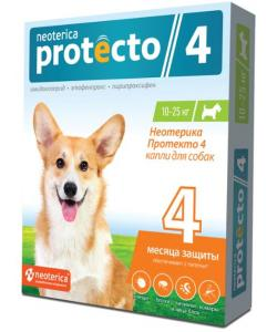 Neoterica Protecto Капли от блох и клещей для собак 10-25 кг, 2 шт.