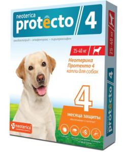 Neoterica Protecto Капли от блох и клещей для собак 25-40 кг, 2 шт.