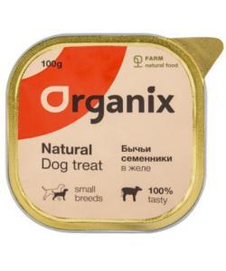 Влажное лакомство для собак бычьи семенники в желе, измельченные.