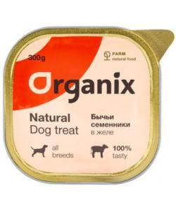Влажное лакомство для собак бычьи семенники в желе, цельные.