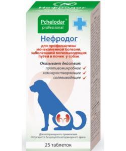 """Таблетки """"Нефродог"""" для собак комплексная профилактика МКБ.  25таб."""