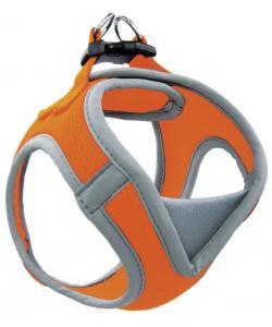 Мягкая шлейка-жилетка, оранжевая, обхват груди 36-41 см (HL029S)
