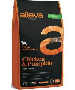 Natural dog сухой корм для щенков средних пород (курица и тыква ), Chicken & Pumpkin Puppy Medium