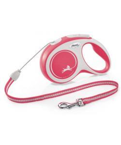 Рулетка-трос для собак до 20кг, 5м, красная (New Comfort M Cord 5m red)