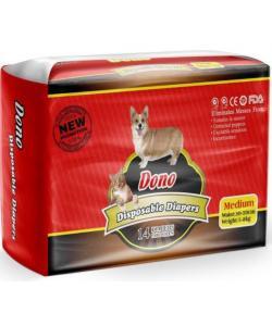 Подгузники для животных DONO Disposable Diapers, размер М (вес 5-8кг, талия 30-50см) 14шт.