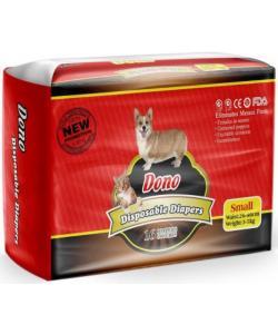 Подгузники для животных DONO Disposable Diapers, размер S (вес 3-5кг, талия 26-46см) 16шт.