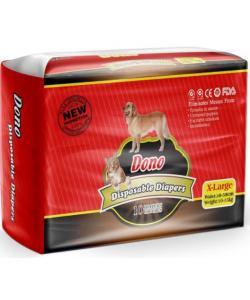 Подгузники для животных DONO Disposable Diapers, размер XL (вес 10-15кг, талия 38-58см), 10шт.