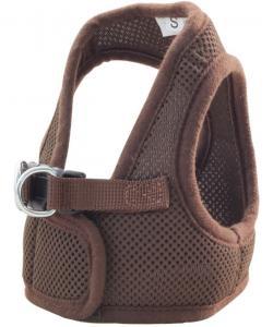 Комплект: поводок и шлейка-жилетка, обхват груди 35 см, коричневый (HL03S)