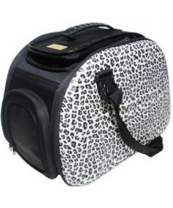 Складная сумка-переноска для собак и кошек до 6 кг сафари 46*32*30 см