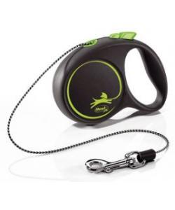 Рулетка-трос для собак до 8кг, 3м, зеленая  (Black Design XS Cord 3m green )