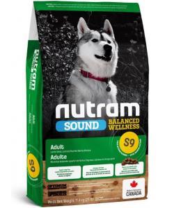 Cухой корм для взрослых собак с ягненком и ячменём S9 Nutram Sound Adult Dog