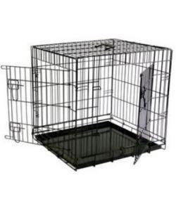 Клетка облегченная металлическая с 2 дверками 61*54*58 см, черная
