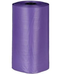 Пакеты для уборки за собаками, 3 л, 4 рулона по 20 штук, с ароматом лаванды, сиреневые (22839)