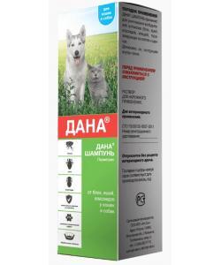 Дана шампунь для кошек и собак от блох, клещей, вшей