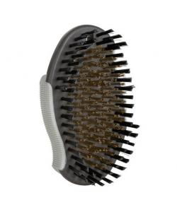 Щетка овальная, с латунной щетиной, 12*6,5 см (2319)