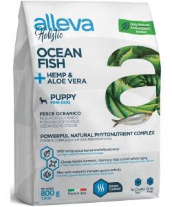 Holistic dog сухой корм для щенков (океаническая рыба, конопля и алое вера) Ocean Fish + Hemp & Aloe vera Puppy Mini