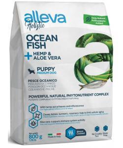 Holistic dog сухой корм для щенков (океаническая рыба, конопля и алое вера), Ocean Fish + Hemp & Aloe vera Puppy Medium