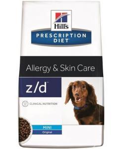 Сухой корм для собак малых пород при пищевой аллергии, z/d Mini