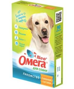 """Омега Neo +  Мультивитаминное лакомство для собак """"Здоровые суставы"""" с глюкозамином и коллагеном, 90 таб."""