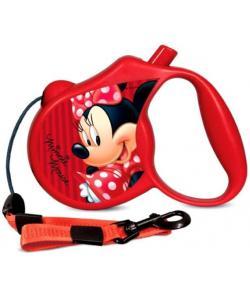 Поводок-Рулетка Minnie  М  5м до 20 кг (трос) красный (WD1004)
