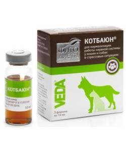 Фитодиета Кот Баюн для коррекции поведения собак и кошек (настой), 3фл. по 10мл