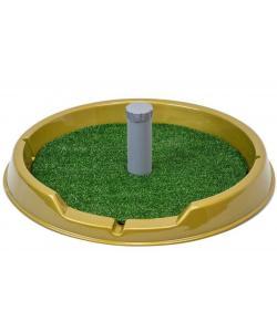 """Туалет для собак со столбиком круглый, серия """"Рокки"""" с искусственной травой d60см"""