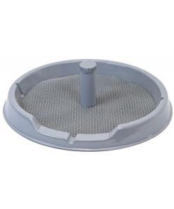 """Туалет для собак со столбиком круглый, серия """"Рокки"""" с резиновым ковриком d60см"""