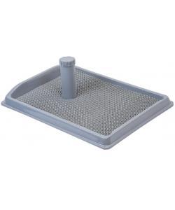 """Туалет для собак со столбиком прямоугольный, серия """"Рокки"""" с резиновым ковриком 55*40см"""