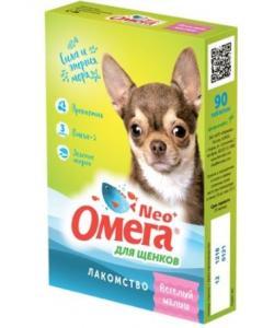 """Омега Neo + Мультивитаминное лакомство для щенков """"Веселый малыш"""" с пребиотиком, 60 таб."""