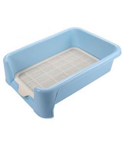 Туалет для собак с сеткой 40*40*15см, голубой (Р587)