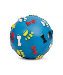 """""""Мяч c лапками и косточками со звуком"""" для собак, резина, 7см"""